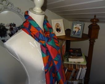 Cotton ethnic patterned scarf