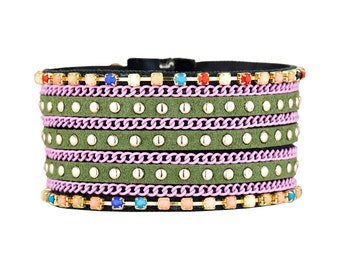 MYC Paris - Sora, leatherette, ethnic Style Cuff Bracelet