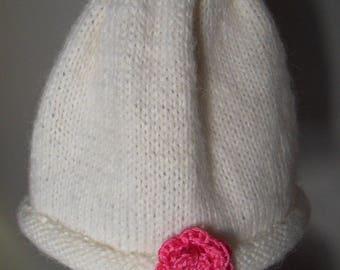 White baby girl newborn Hat 0-3 months