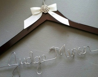 Personalized Female Judge Hanger, Court Judge Hanger, Judge Gift, Judge Appointment Gift, Judge Robe Hanger
