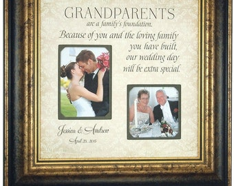 Wedding gift for Grandparents from Bride and Groom, Thank you Wedding Gift, Custom Grandparent Gift, Family Gift, Grandparent Gift, 16x16