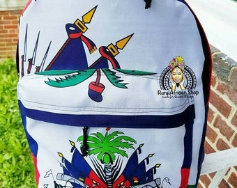 Haiti Flag Backpack