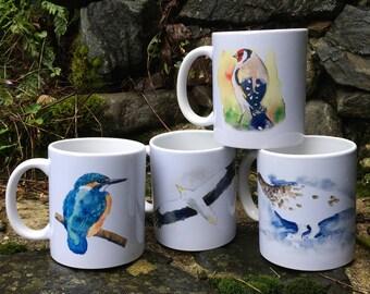 4 bird mugs