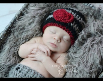 Newborn boy heartbreaker hat