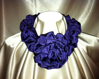 Tuck-a-Rose Scarf - Purple