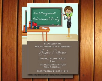 Teacher Retirement Invitation | Teacher Retirement Party Invitation | Printable Invite