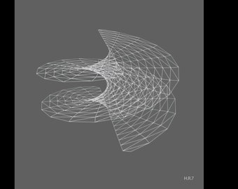 Geometric Print: Hyperbolic Collection, Radial Series, Print #7