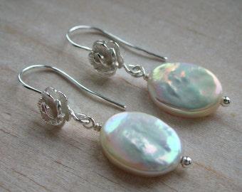 Pearl Earrings - Sterling Silver