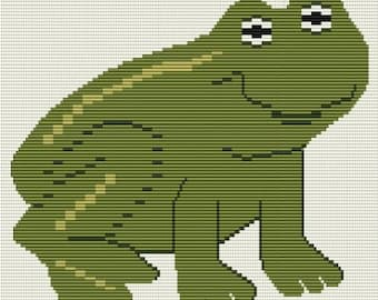 My Frog, bead pattern for loom or peyote