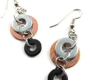Chandelier Earrings Dangles Mixed Metal Hardware Jewelry