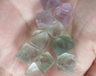 Beautiful Fluorite Octahedron, Set of 3, Mineral Specimens, Metaphysical tool, extra small