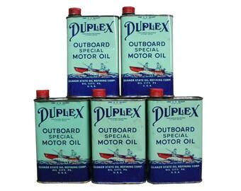 Vintage Duplex Motor Oil Canister // Industrial Kitchen Decor