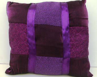Purple Patchwork pillow