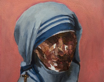 Beatified + Blessed II, 7x8in Oil Painting