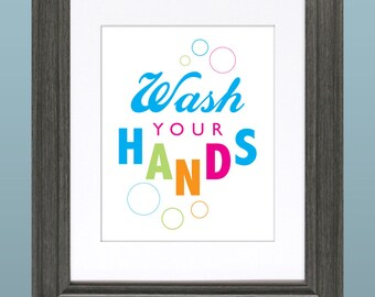 Wash Your Hands 8x10 Inch Printable File