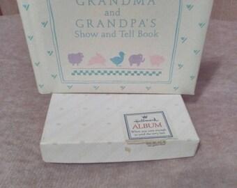 Vintage Hallmark Photo Album - Grandma and Grandpa's Show and Tell Book