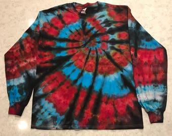 Large Ice Dyed Long Sleeve Spiral