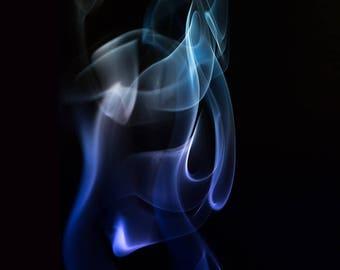Smoke Photography, Fine Art Photography, Landscape Print, , Nature Home Decor, Wall Art Print,