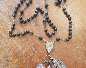 Vintage Rosary Necklace Re-New