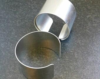 Metal Bracelet Cuff Blanks - Jewelry Craft Supplies  - Set of 4 - Aluminium Cuff Base