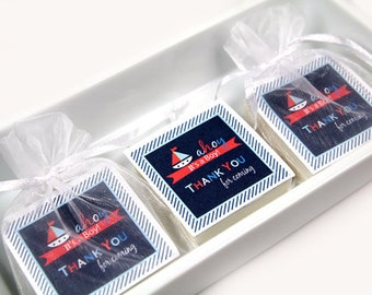 Nautical Baby Shower Soap Favors/ Baby Shower Favors/ Set Of 16