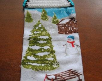 Christmas Cabin Towel