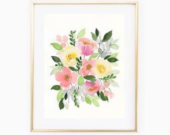 Kenzie's Flowers - 11x14 Original Watercolor