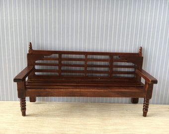 1:12 Scale Dolls House Miniature Garden Bench