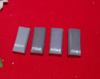 4 gray buttons 4 / 2 cm