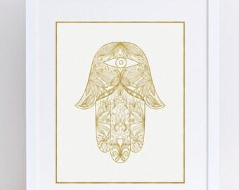 Hamsa Art, Hamsa Hand, Hamsa Wall Art, Hamsa Art Print, Hamsa, Hand of Fatima, Hamsa Poster, Hamsa Print, Hamsa Hand Print, Hamsa Decor