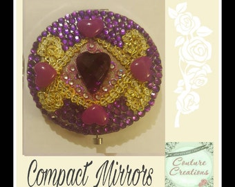 Compact Mirror in Gold and purple