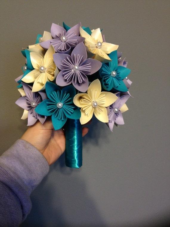 Kusudama paper flower bouquet wedding flowers home decor
