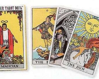 NEW Vintage Rider-Waite Tarot Deck by Pamela Colman Smith, Vintage Tarot Deck, Vintage Divination Tools, Spiritual Accessories, Tarot Cards