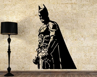 Batman Wall Vinyl Decal Dark Knight Wall Vinyl Sticker Superhero Decals Nursery Decor Home Decor (1bn)
