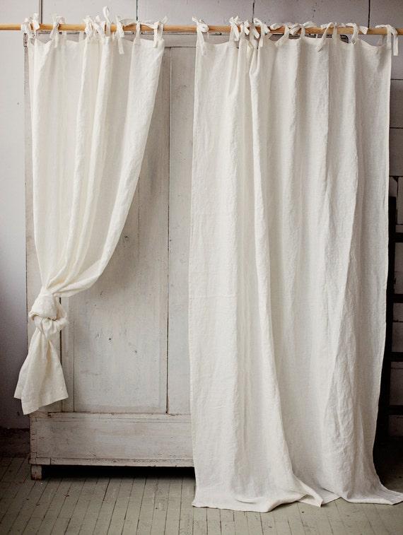 Verwaschenes Leinen Vorhang. 12 Farben. Leinen Fenster Panel.