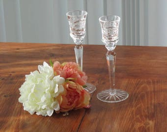 Glassware,  candle holders, long candle holder, dinner candle holders, after drink glasses, celebration candle holders, timelesspeony