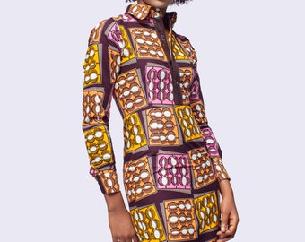 African Print Shirt Dress, Ankara Dress, African Clothing for Women, African Dress, African Clothing, African Women Dress