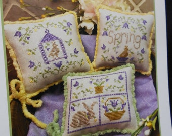 """Cross Stitch pattern -""""Spring Whimsies"""" by ScissorTail Designs"""