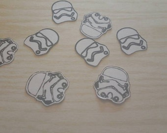 Storm Trooper confetti, first order stormtrooper, star wars party, geeky party supplies, star wars confetti, star wars decorations,