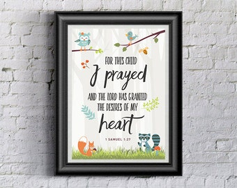 Woodland Creatures Baby Nursery Printable