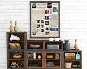 "Personalized ""Polaroids w/ letters"" Wall Art"