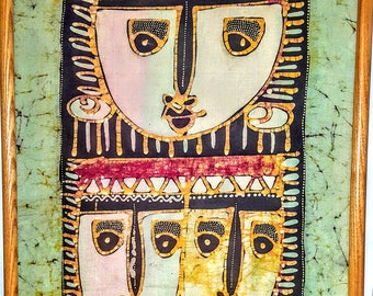 Bali Art   Indonesian Batik Painting/Panel     Vintage collector's Item