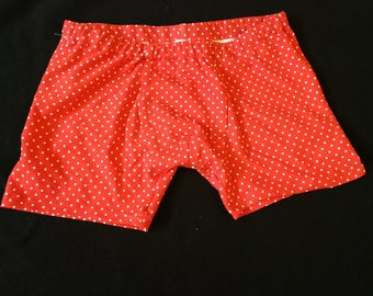 Red dots of Boxer shorts size M / 5 hand made unique
