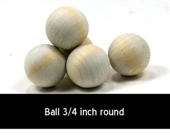 Unfinished Wood Ball - 3/4 inch in diameter wooden shape (WW-RB0750)