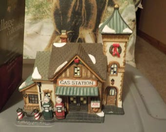 Holiday Time village collectibles Gas Station