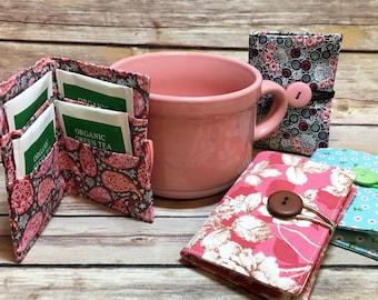 Tea bag holder, Tea bag, Tea bag pouch, Tea bag gift, Tea Bag Organizer, TeaBag, Tea bag storage, Tea Bag Wallet, Tea Bag Favour