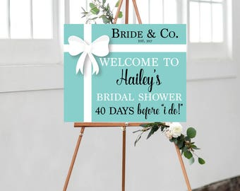 Countdown Sign,  Bridal Shower Countdown Sign, Bridal Shower, Wedding Countdown Sign, Bride and Co Banner