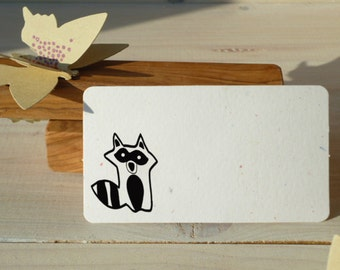 Little Racoon Olive Wood Stamp