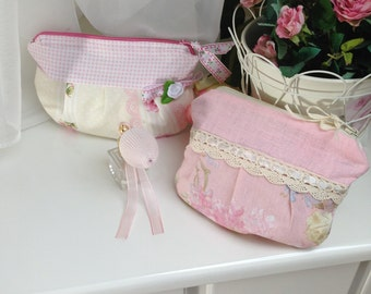 Cute purse in pink or cream