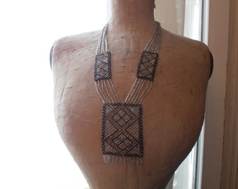 A 1930's beaded necklace